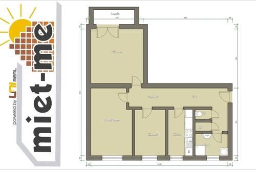 - miet-me - Zentral gelegene 3-Zi-Wohnung, barrierefrei