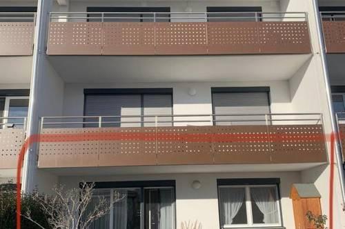 Teilmöblierte Neubauwohnung + Terrasse + Garten
