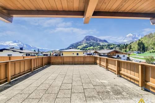 Großzügige Terrassenwohnung mit Horn- und Kaiserblick