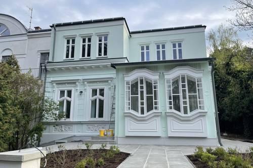 Erstbezug Einfamilienhaus mit 5 Schlafzimmern, 4 Bädern in bester Lage am Pötzleinsdorfer Schlosspark (Endstation Tram 41) nahe sowohl zur Amerikanischen Schule als auch zum Lycee Francais