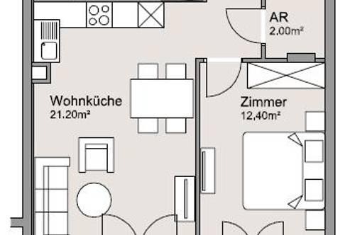 Gemütliche 2-Zimmer Wohnung in perfekter Lage