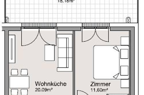 Idyllische 2-Zimmer Gartenwohnung