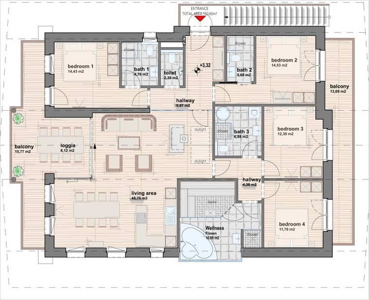 Grundriss - Penthouse