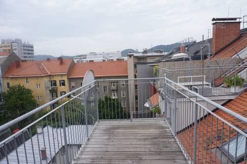 Rarität ! Loft-Maisonette mit Süd-Terrasse in Lend.