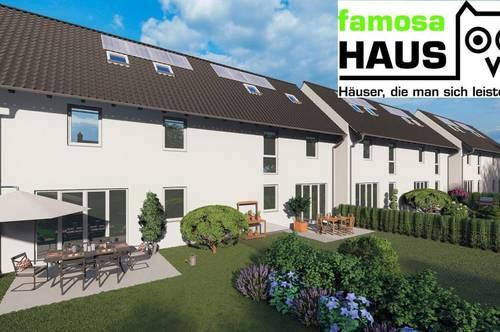 Provisionsfrei: ziegelmassives Eck-Reihenhaus mit 111m² Wohnfläche, 46m² Keller, Terrasse, Gartenoase und Parkplatz (Eigengrund).