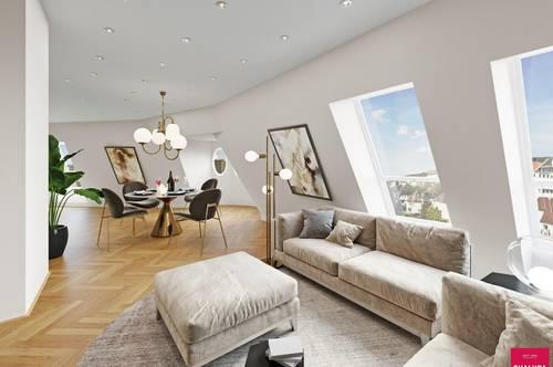 Luxuspenthouse in Botschaftsnähe mit Blick auf das Belvedere