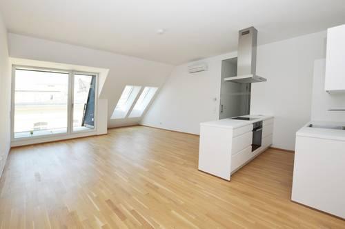 City-Lage: Ruhige DG-Wohnung mit Balkon