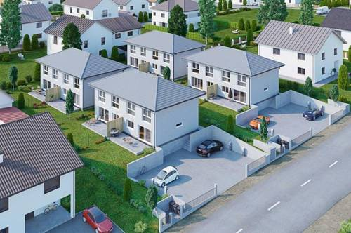 Doppelhaushälfte - bereits ab 950,- *) monatlich - Holzriegelbau - Wohnpark Großmugl - belagsfertig