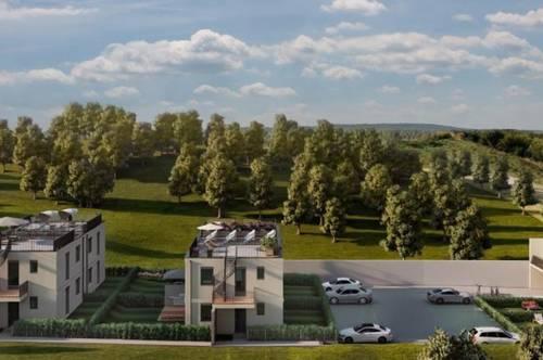 Kit Paket - Reihenhaus mit Garten - Gemeinschaftspool - Holzriegelbau - Bad Deutsch Altenburg