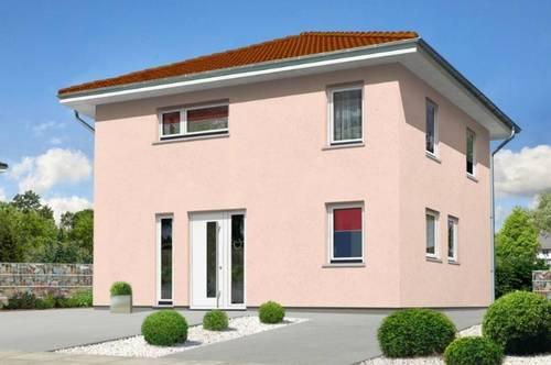 Moderne Stadthaus-Villa mit großem Garten & Doppelgarage in zentraler Lage