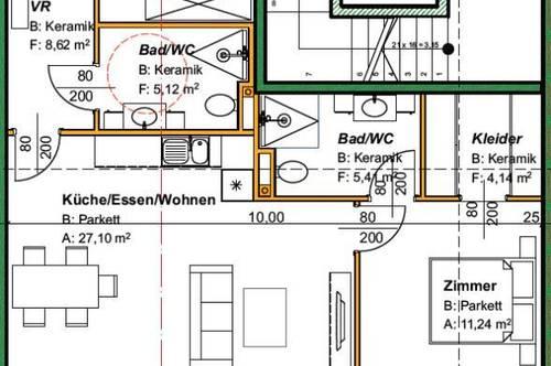 Neubauwohnung im Obergeschoss mit Lift in St. Stefan ob Stainz/ Haus A Top 9