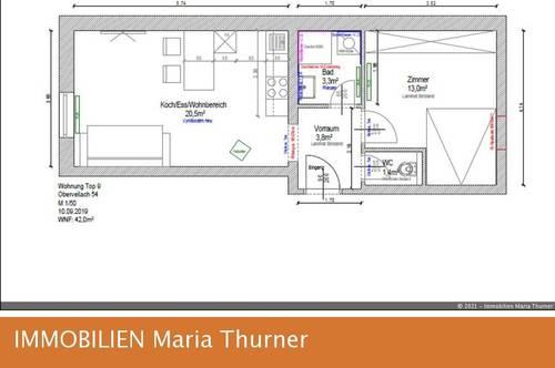 Neu renovierte Wohnung ab 1. September 2021 zu vermieten