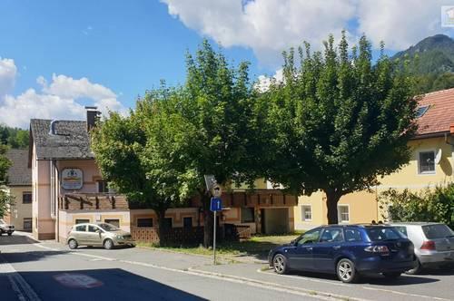 Zentrum von Eisenkappel - Älteres, sanierungsbedürftiges Gasthaus mit Potential