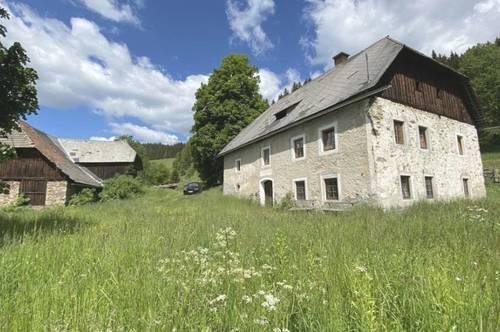 70 HA Landwirtschaft in Alleinlage, Fernsicht, sonige Ruhelage, 1000 m Seehöhe, Bez.St. Veit/Glan