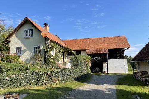 Weinitzen-Niederschöckel! Kleines Bauernhaus, Landwirtschaft, Pferde- bzw. Viehhaltung, Grund ca. 14.862 m², Wunderschöne Lage!