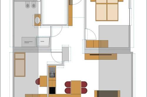 Vermiete in Dellach - Drautal moderne sanierte 3 Zimmerwohnung mit 2 PKW Abstellplätze