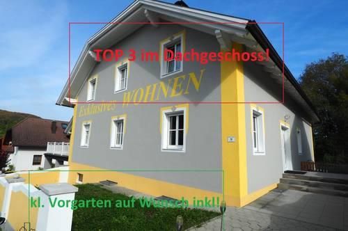 Dachgeschosswohnung in Texing mit kleinem Vorgarten!