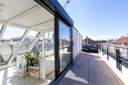 DG-Wohnung in zentraler Lage im 8. Bezrik mit Balkon und Terrasse