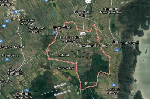 Insgesamt 12700m² landwirtschaftliche Grundfläche Nähe Eisenstadt