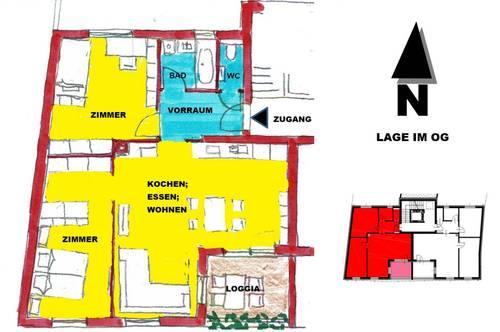 schlüsselfertige Wohnung mit Loggia in Sooß / Baden bei Wien