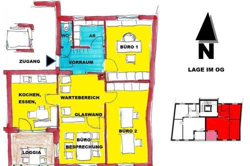 schlüsselfertiges Büro mit Loggia in Sooß / Baden bei Wien
