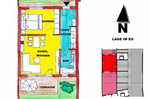 schlüsselfertige Wohnung mit Garten und Terrasse in Sooß bei Baden