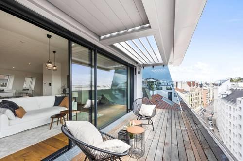 Premium-Dachgeschoßwohnung OHNE Schrägen - uneinsichtige Terrasse!