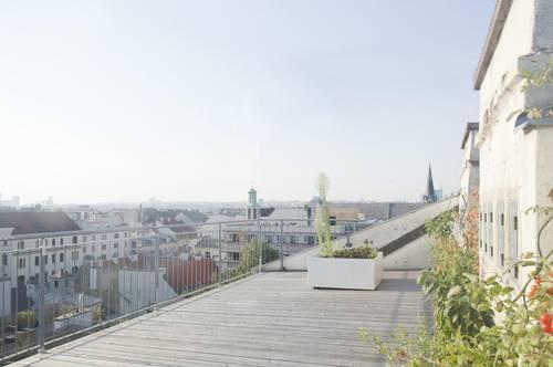 Stil-Altbau-Terrassenwohnung im 7. Bezirk
