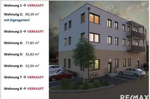 !!reserviert!! Perfekt geschnittene Single-Wohnung - bezugsfertig im Frühjahr 2021  (Top 5)