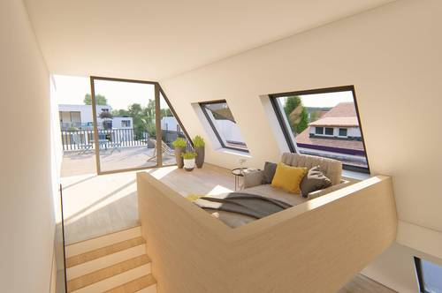 Stadtplatz: Wohnung mit 3 Zimmer, Galerie und Terrasse