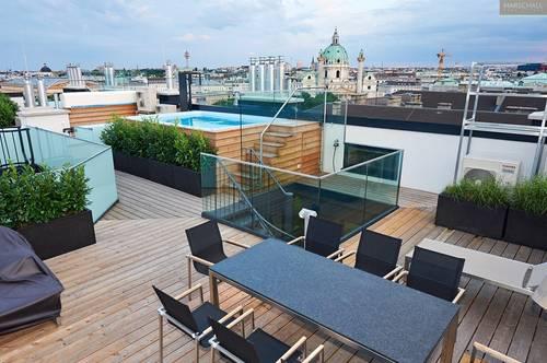 Atemberaubendes Penthouse mit Terrassen und Garage in Top-Lage