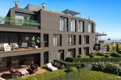 Exklusive Gartenwohnung mit Panoramablick über Wien