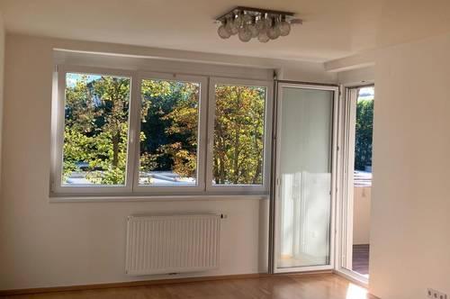 Perfekt gelegene 2-Zimmerwohnung in Waidmannsdorf mit Loggia und Blick ins Grüne. Inkl. Garagenplatz