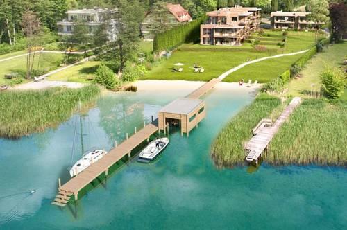 Seegartenwohnung mit Bootsplatz