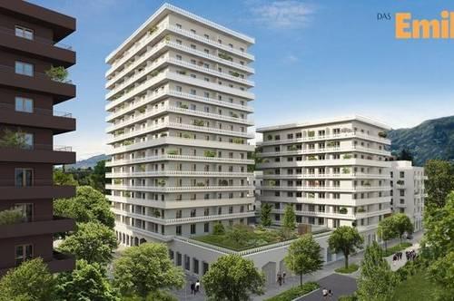 Q5 am PARK  DAS EMILIE Haus JP sonnige 2ZI mit 20m² S/O Balkon Reininghaus Gründe