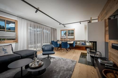 Vollmöblierte Luxus Wohnung in sonniger Aussichtslage mit Kaiserblick