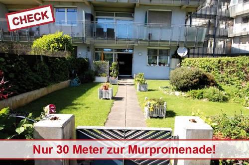 Gartenwohnung in Top Lage direkt an der Murpromenade!
