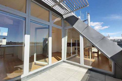 Helle Maisonette mit großzügiger Wohnküche, 2 Zimmern, Dachterrasse - nächst Enkplatz