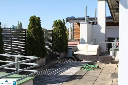 Dachmaisonette - 3 Zimmer - 36m² große Terrasse - inkl. Garagenplatz - hochwertige Ausstattung