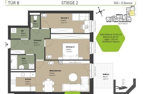 ++ GENIAL ++ Ideale DREI Zimmer im DACHGESCHOSS mit BALKON
