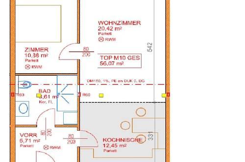 14184 Neu errichtete Wohnung oberhalb vom Merkur!