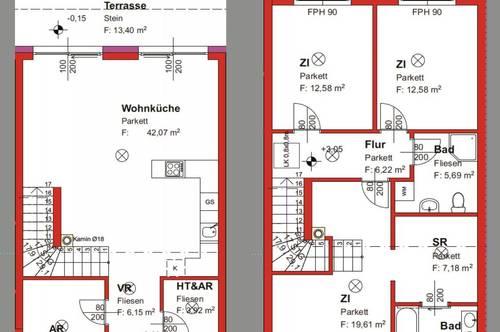 ** Haus VI - ModernFamilyHome - Großzügiges Niedrigenergie-Reihenhaus in schöner Lage! **
