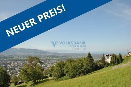 Achtung! Unverbaubare Aussichtslage in Dornbirn!
