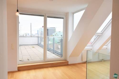 Über den Dächern Wiens: Klimatisierte 3-Zimmer-Maisonette mit 2 Terrassen