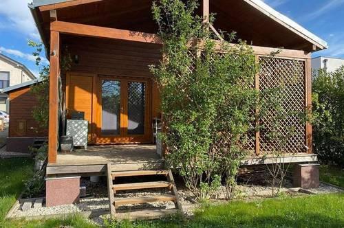 WIMPASSING AN DER LEITHA | möbliertes Holzhaus mit Seezugang | provisionsfrei