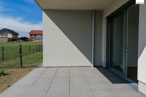 Neubauwohnung mit schön angelegten Garten & großzügiger Terrasse!
