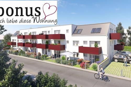 Wohnbaugeförderte 3-Zimmer DG Wohnung mit Balkon, Kellerabteil und 2 Parkplätzen. Provisionsfrei!