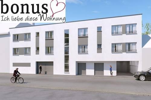 Schlüsselfertige 2-Zimmer DG-Wohnung mit Garten im Privatgartenbereich, Kellerabteil und Parkplatz.