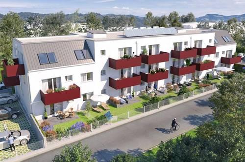 Familientraum: provisionsfreie 3 Zimmer Wohnung mit 2 Terrassen, Eigengarten und Parkplatz. Schlüsselfertig!
