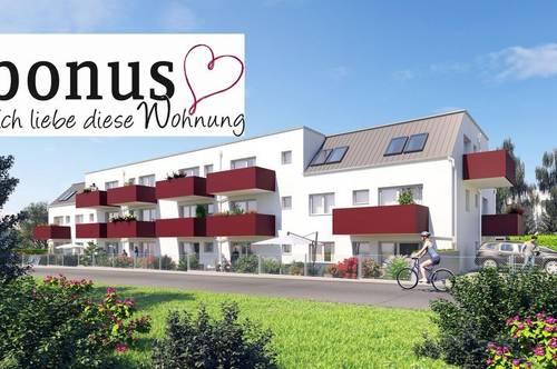 Wohnbaugeförderte 2-Zimmer Dachgeschoßwohnung mit Balkon und Parkplatz. Provisionsfrei!